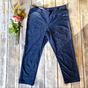 SPALDING Crop Blue Legging Tights - Medium